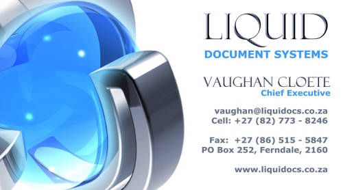 Liquid Document Systems | Business Cards